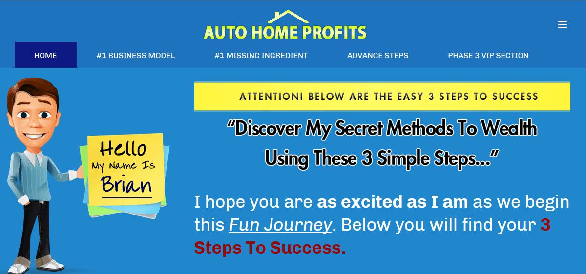 auto home profits members area