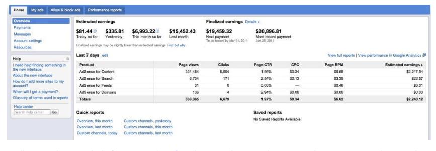 google adsense fake income proof