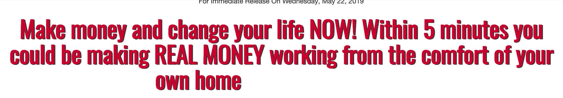 make money in 5 minutes
