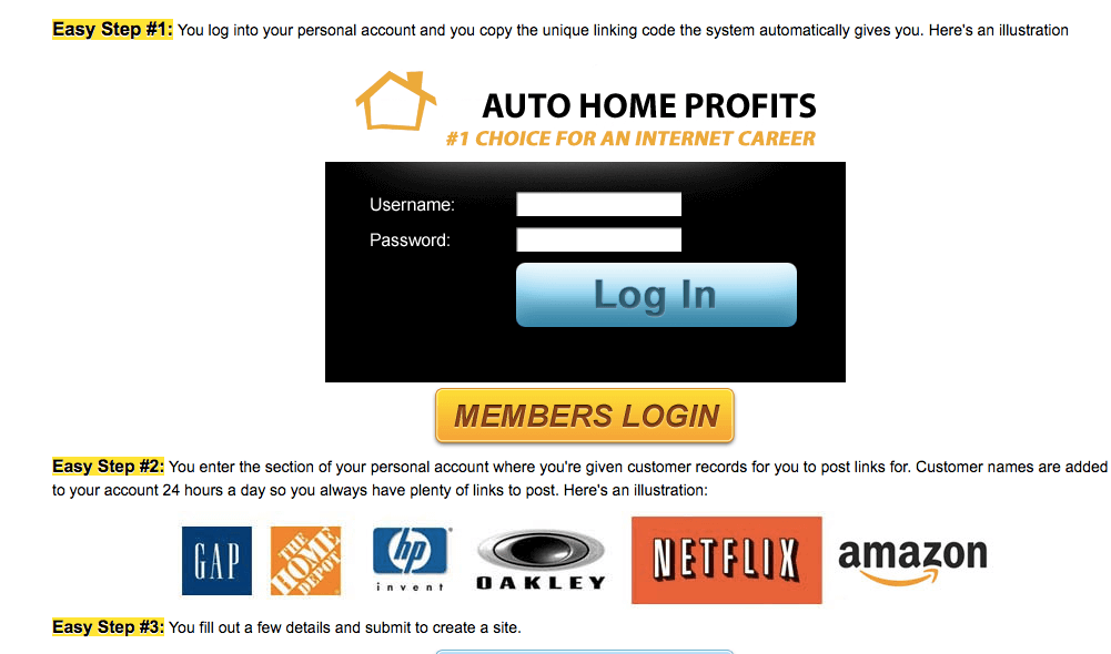 new auto home profits website