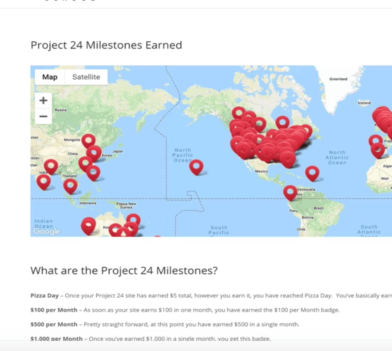 project 24 milestone