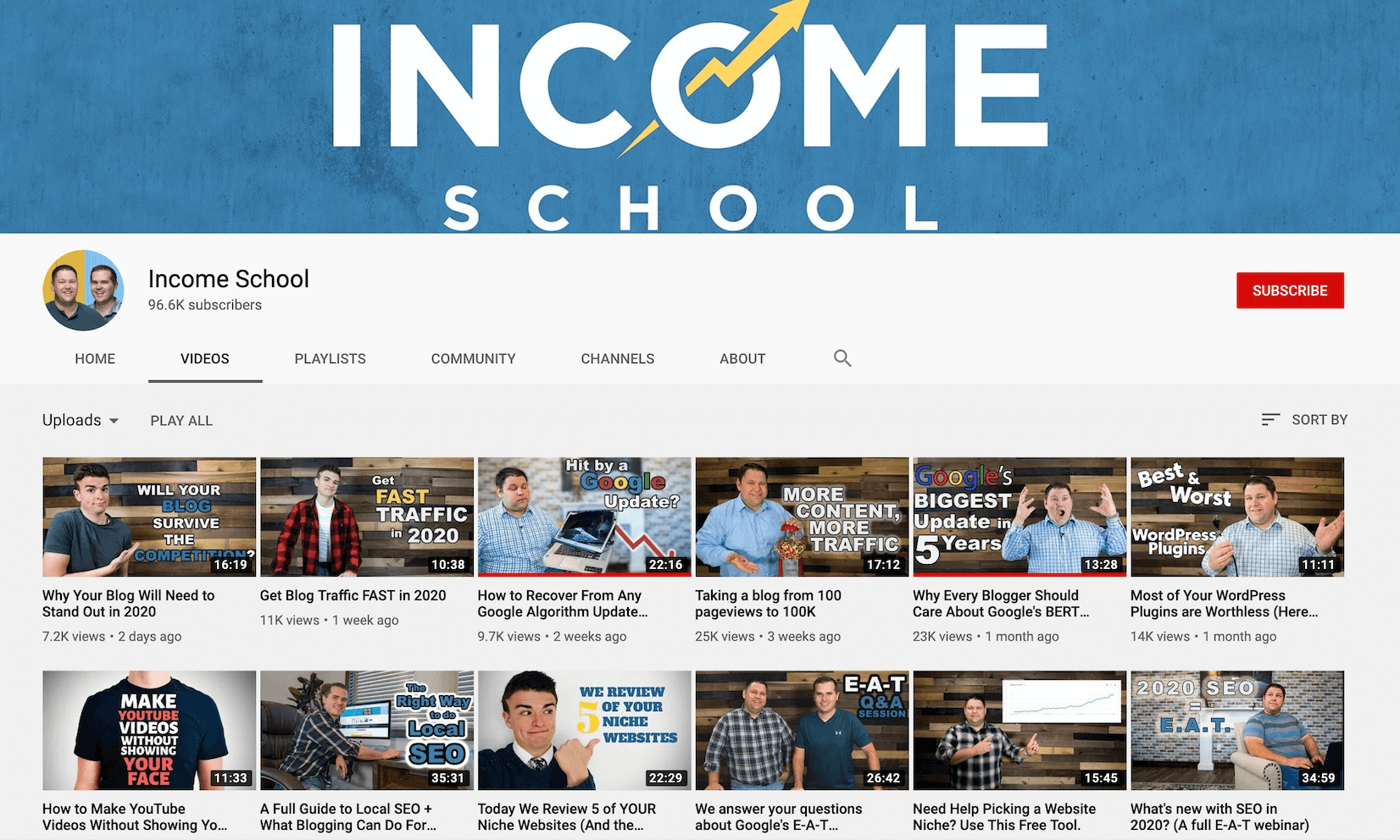 income school-youtube