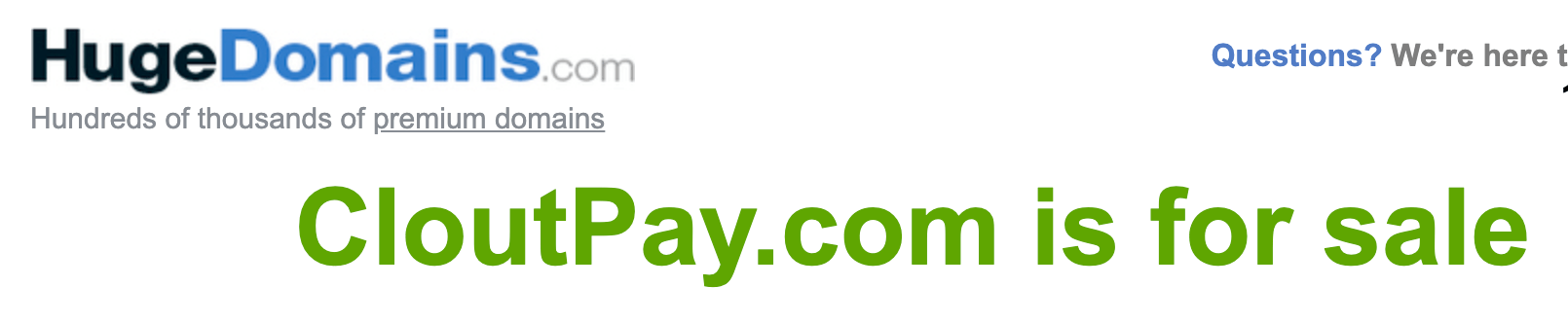 clout-pay-domain-on-sale