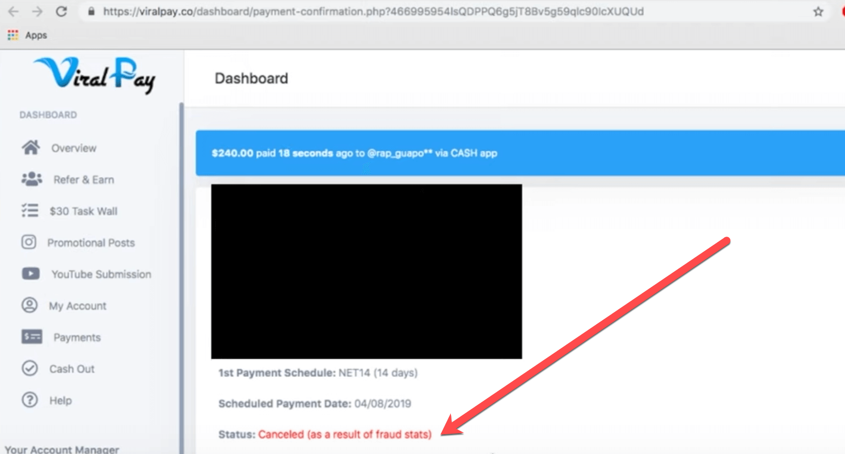 viralpay-member-account-termination