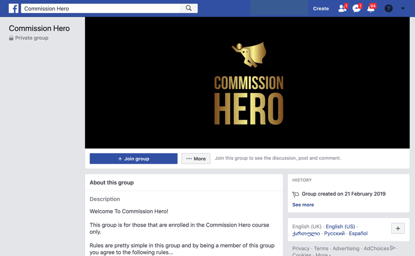 commission-hero-facebook-group