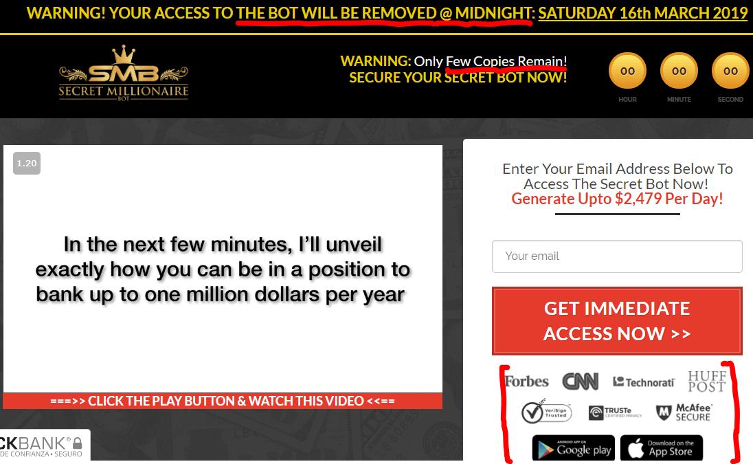 Secret-Millionaire-Bot-red-flags