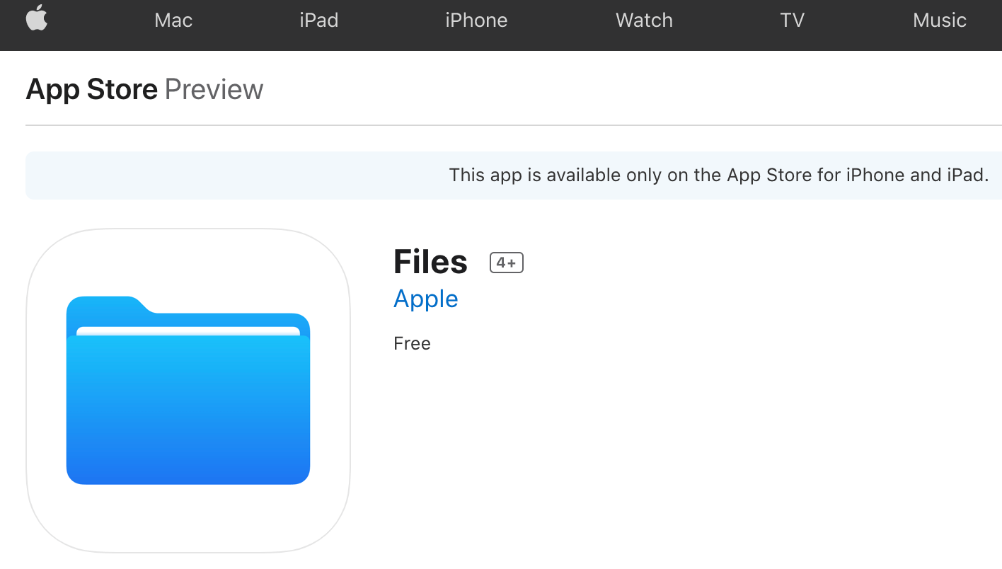 Files on Appstore