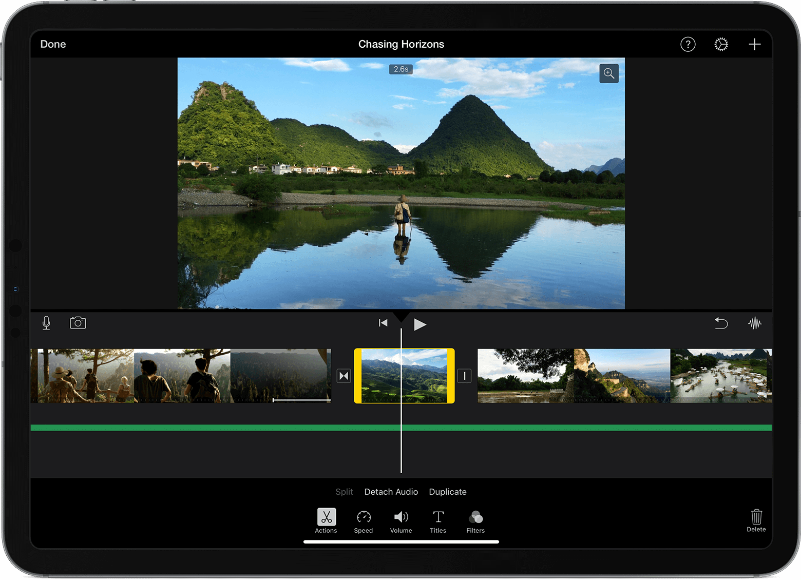 video editing ipad pro